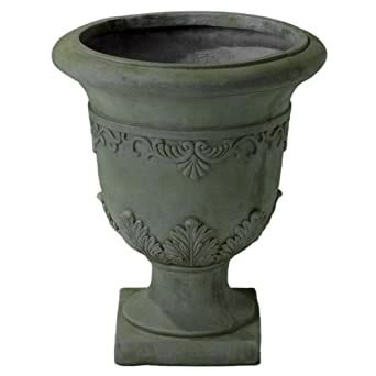 Floriana Antique Grey Moss Stone Planter  Ebay.