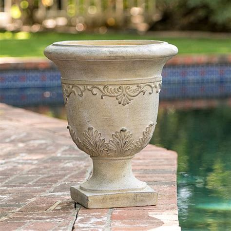 Floriana Green Stone Planter - Amazon Co Uk.