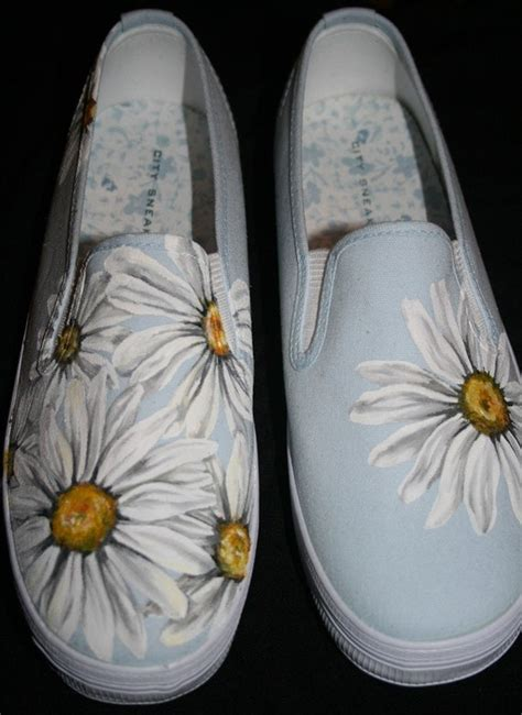 Flower Painting On Shoes