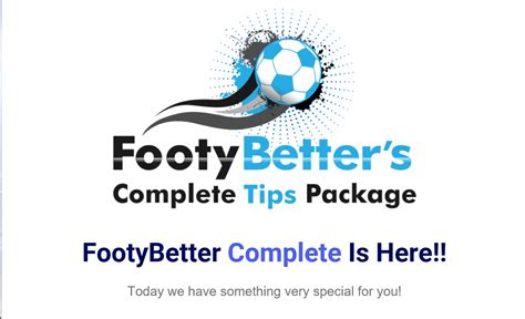[click]footybetter Complete Tips Package.