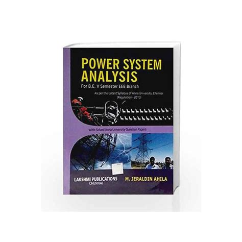 [click]for Free Power System Analysis By Jeraldin Ahila Ebook .