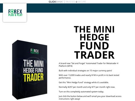 [click]forex Mini Hedge Fund Metatrader System - The Mini Hedge Fund Trader.