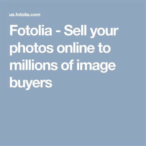 @ Fotolia - Sell Your Photos Online To Millions Of Image Buyers.
