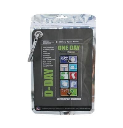 Four Portable 24 Hour D-Day Hygiene Kits By United Spirit .