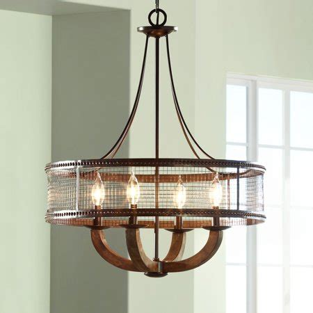 Frankton Industrial 22 Wide Bronze Chandelier - Franklin .