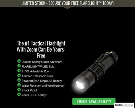 Free Flarelight Offer Converts 13.3 Percent - Survival Life Link.
