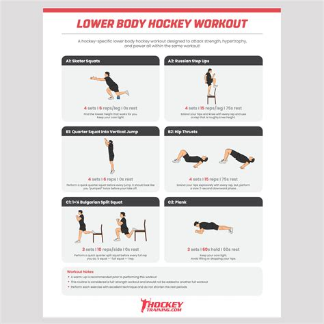 Free Hockey Workout Program Plan - 247 Hockey Workouts.
