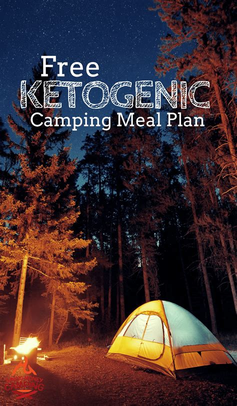 Free Keto Camping Meal Plan Keto Pinterest Camper And Cucine.