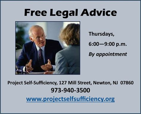 Free Lawyer Advice Nj