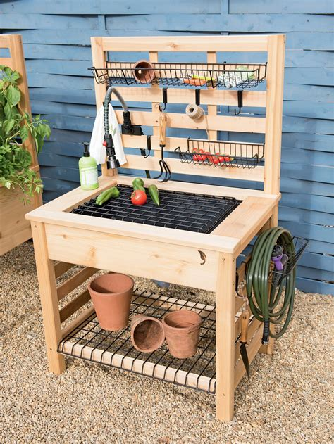 Free Plans For Potting Bench With Sink