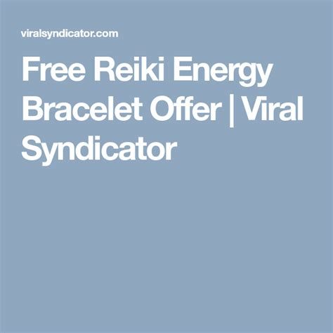 @ Free Reiki Energy Bracelet Offer - Free Reiki Energy Bracelet Offer Review.