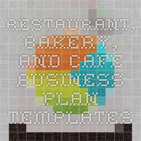 [click]free Restaurant Cafe And Bakery Business Plans  Bplans.