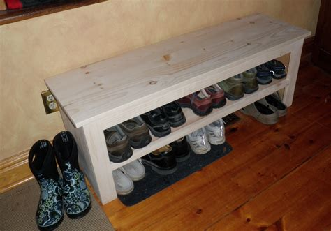 Free Shoe Storage Bench Plans