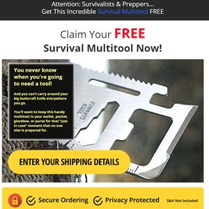 [click]free Survival Multitool Plus Bonuses - Buzzworthy Products.