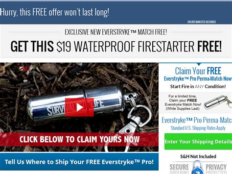 [click]free Waterproof Lighter Converts 13 66 Percent   Survival .