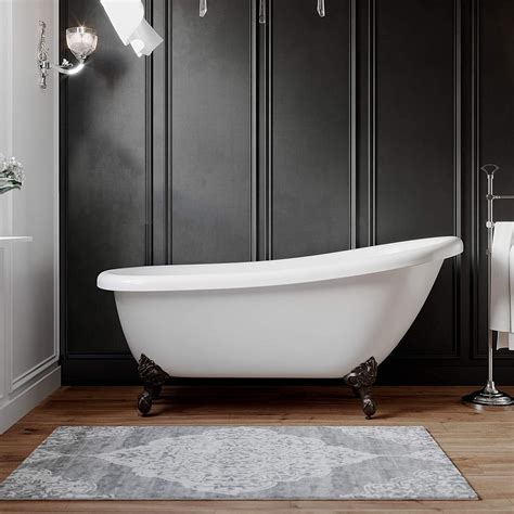 Freestanding 61 Acrylic Slipper Bathtub With No Faucet .