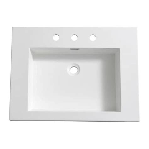 Fresca Potenza 28 In Drop-In Acrylic Bathroom Sink In .