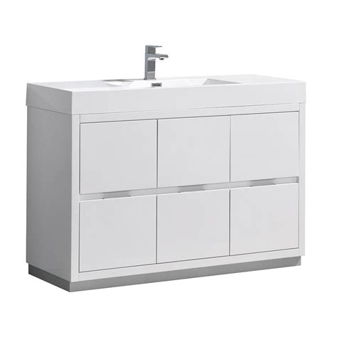 Fresca White Lacquer Bathroom Vanity - Sears Com.
