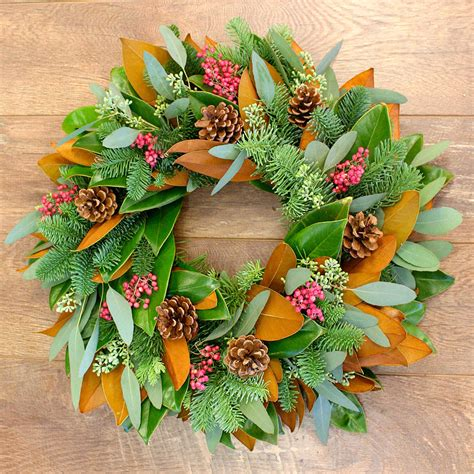 Fresh Magnolia Wreath  Holidays  Wreaths Magnolia .