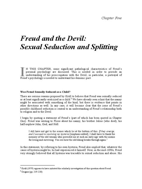[pdf] Freud And The Devil Sexual Seduction And Splitting.