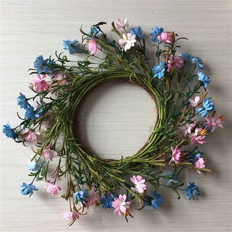 Front Door Wreath -24 Inch Spring Garden Wreath With Twig .