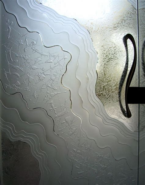 Frosted  Etched Glass - Sans Soucie Art Glass.