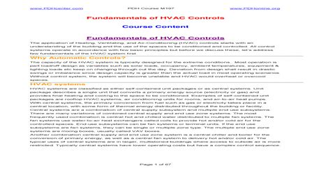 [pdf] Fundamentals Of Hvac Controls Course Content  - People.