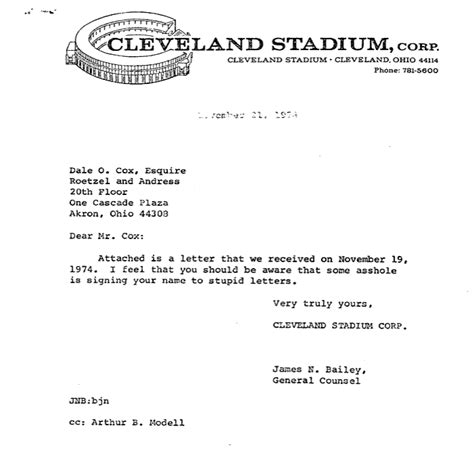 Funny Lawyer Letter Cleveland Browns