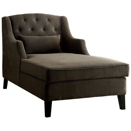 Furniture America Aysa Wingback Chaise In Mocha.