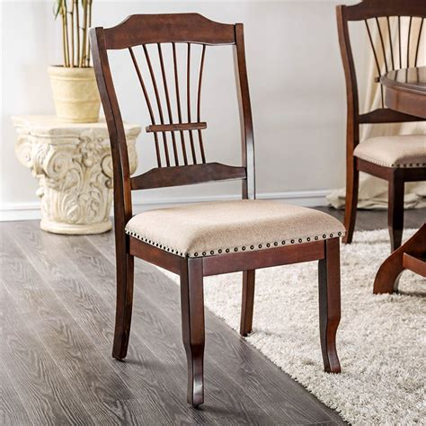 Furniture Of America Eindride Brown Side Chair Set Of 2 .