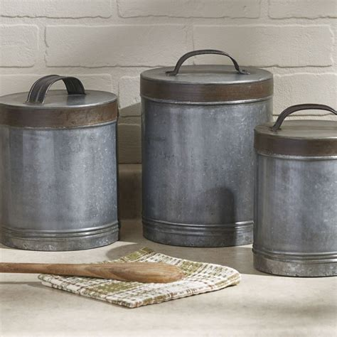 Galvanized Canisters - Set 3  Linens  Things  Home .