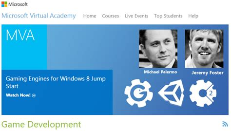 @ Game Development Training Courses - Microsoft Virtual Academy.