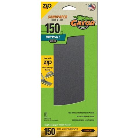 Gator 6-Pack 4 5-In W X 10 5-In L 150-Grit Commercial .