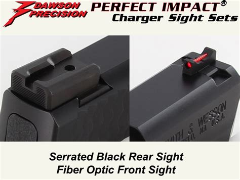 Gear Shot Dawson Precision Charger Rear  Fiber Optic Front Sight.