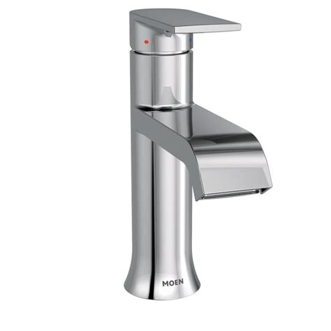 Genta Chrome One-Handle High Arc Bathroom Faucet -- 6702