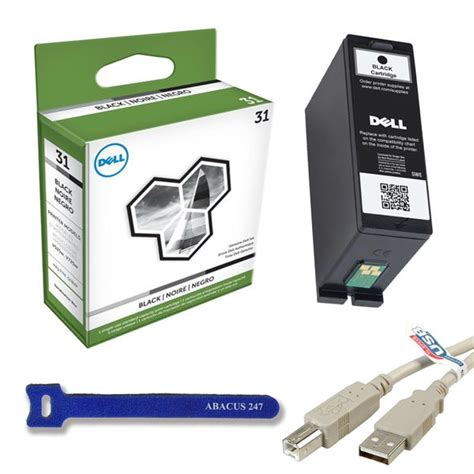 Genuine Dell Series 31 (v525w/v725w) Black Ink Cartridge.