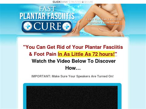 [click]get 100 Commissions  New Quick Plantar Fasciitis Remedy .