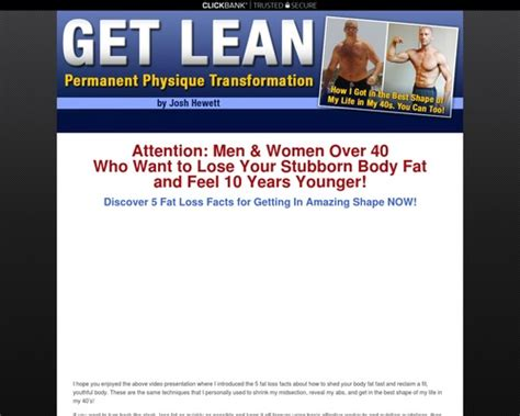 [click]get Lean   Permanent Physique Transformation E-Book By