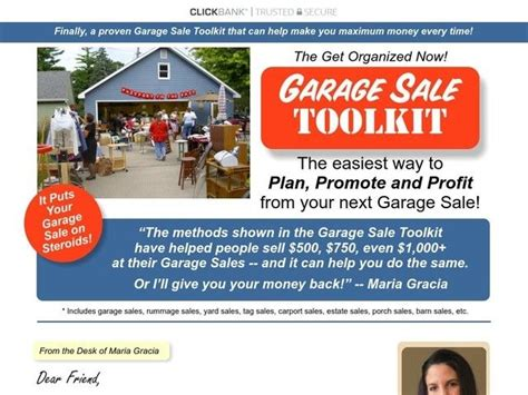 [click]get Organized Now Garage Sale Toolkit.