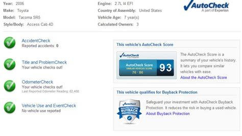 Get A Free Vehicle History Report Before You Buy A Car - Lifehacker.