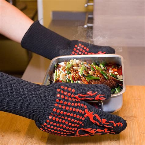 Get The Deal 1 Pair Heat Resistant Thicken Oven Mitts For .