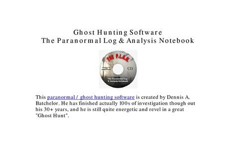 [click]ghost Hunting Software Thep L A N - Video Dailymotion.