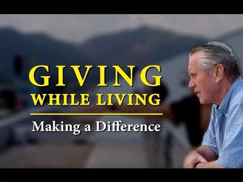 [click]giving While Living Making A Difference