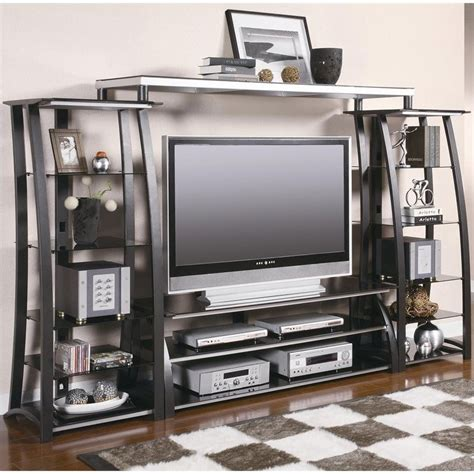 Glass And Metal Entertainment Centers