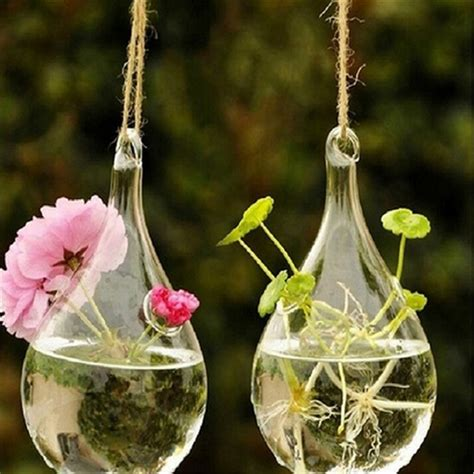 Glass Flower Hydroponic Vase Landscape Diy Bottle .