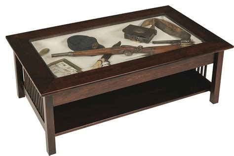 Glass Top Display Coffee Table