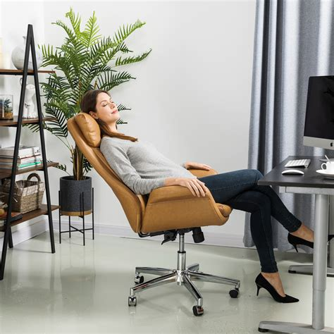 Glitzhome Glitzhome Headrest Office Chair Leatherette .
