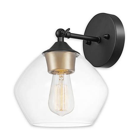 Globe Electric Harrow 1-Light Wall Sconce Matte Black .