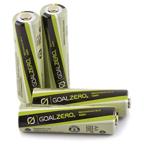 Goal Zero Australia Rechargeable Aa Batteries 4 Pack .