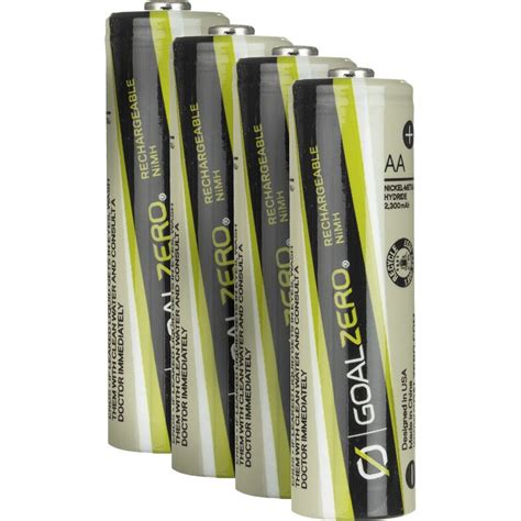 Goal Zero Rechargeable Aa Batteries For Guide 10-4-Pack.